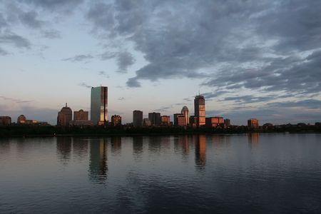 Boston skyline at sunset Stock Photo - 500927