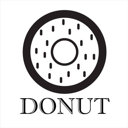 Donut minimalist logo, Donut modern logo. Template Logo