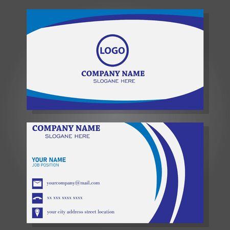 Modern business card template design.