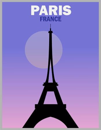 Illustration vector design of retro and vintage poster of Paris 向量圖像