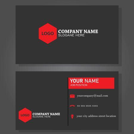 Illustration vector design of business card Ilustración de vector