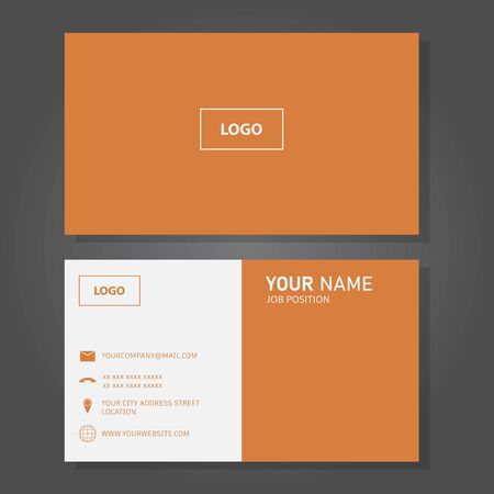 Illustration vector design of business card Vektoros illusztráció