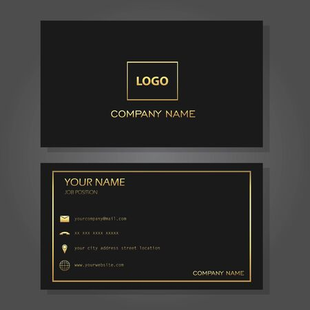 Illustration vector design of business card
