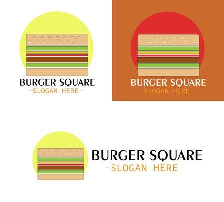 Illustration vector design of Burger Square