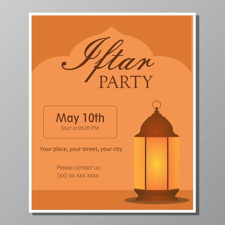 Illustration vector design of Iftar party Vectores