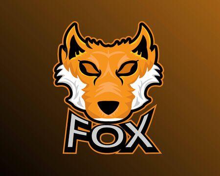 Illustration vector design of Fox esport logo template
