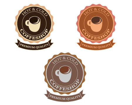 Illustration vector design of coffee retro and vintage  template Ilustração