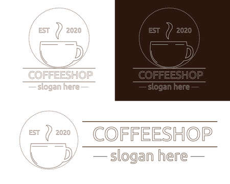 Illustration vector design of Coffee vintage  template