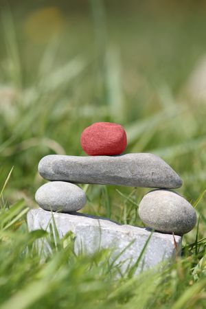 Stone sculpture - Zen, Buddhism, Winner Stock Photo - 5456872