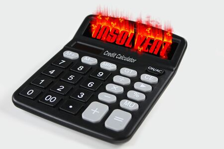 Credit Calculator shows Insolvent/Bankrupt as Result  Stock Photo - 5491709
