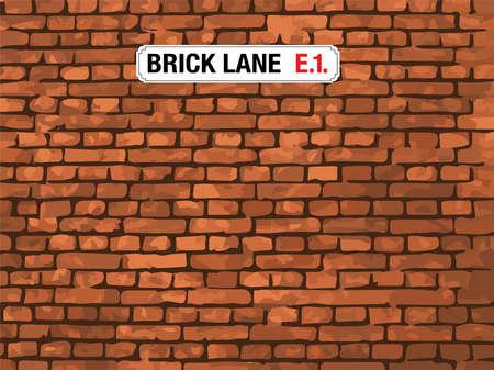 london street: Brick Lane, East London, Street Sign