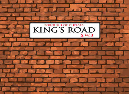 chelsea: Kings Road, SW3, Street Sign. London Borough of Chelsea