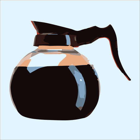 coffee pot: Glass Coffee Pot on a plain background