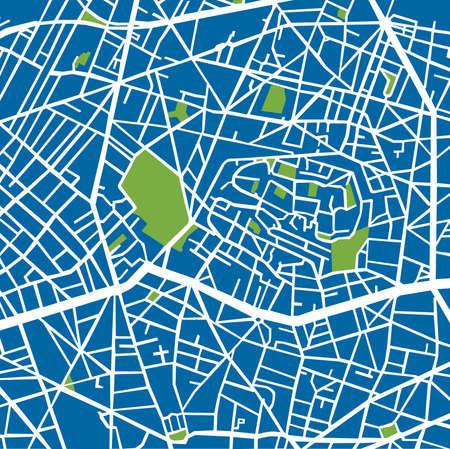 montmartre: Montmartre Arrondissement Blue, Street plan