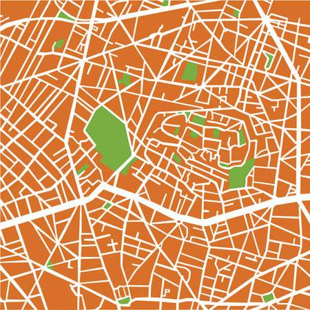 montmartre: Montmartre Arrondissement, Street plan Illustration