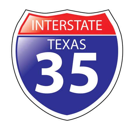 roadsigns: Layered artwork of Texas Interstate Sign