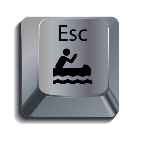 Canoeist on escape key