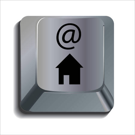 computer key: At home computer key Illustration