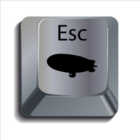 esc: Blimp Escape Key Illustration