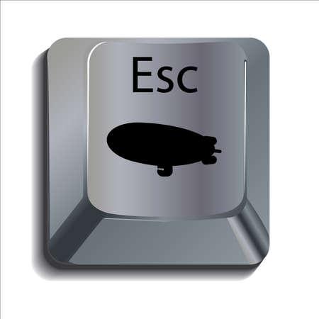 escape key: Blimp Escape Key Illustration