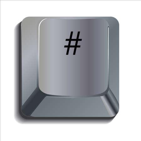 esc: Hash Tag computer key