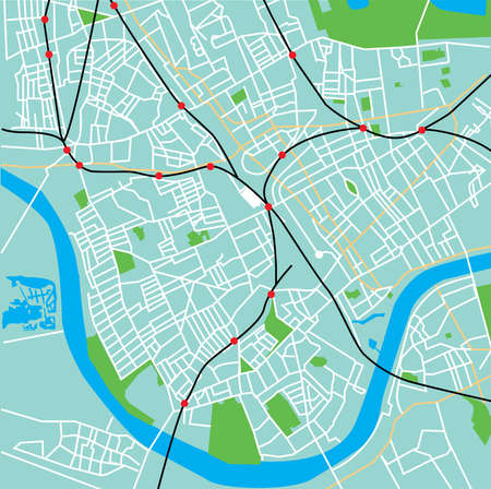 borough: Fulham streets and tube lines on a duck-egg blue background