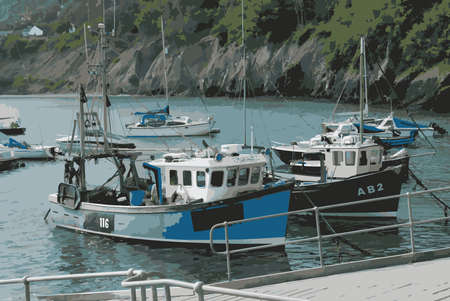 harbour: Fishing Boats in Newquay Harbour