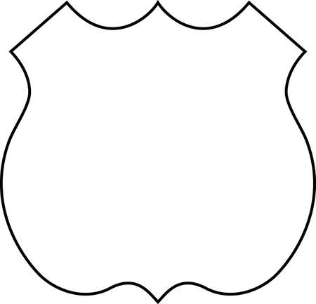 Blank Route Shield ready for any number Illustration