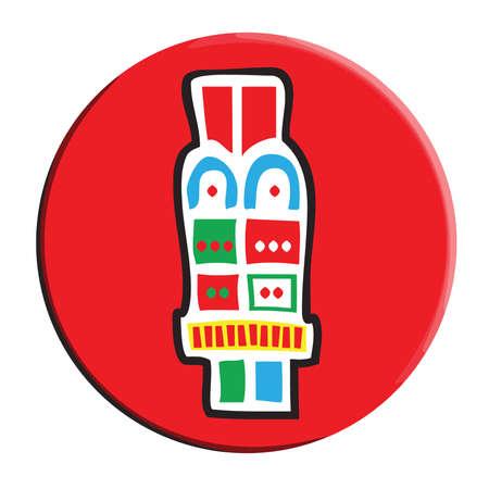 Aztec Calendar Symbol, Acatl, Reed Ilustração