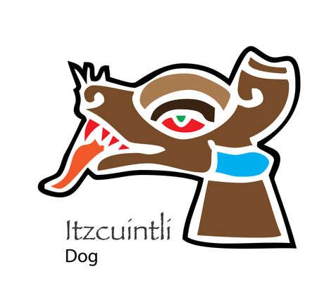 Vector Aztec Itzcuintli-Dog Icon Illusztráció
