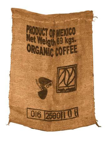 hessian: Vector Hessian Organic Mexican Coffee Sack