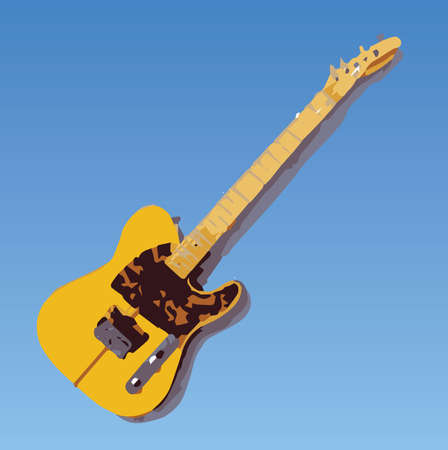 hardrock: Vector Illustration of a Hohner Artist F Guitar with logo removed