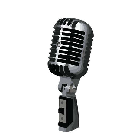 shure: Classic Microphone with logo removed