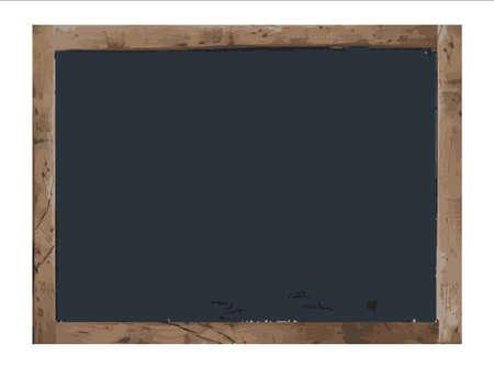 Vector Antique blank chalk board