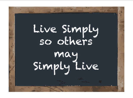 proverbs: Vector Antique Live Simply chalk board