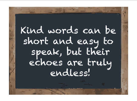 Vector Antique Kind Words can be chalk board Vettoriali