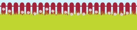 osteospermum: Isolated layered Daisy Fence Crimson Colour Stain Illustration