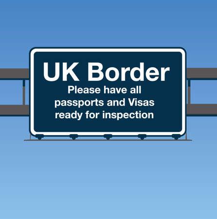 Entrar Reino Unido fronterizo de carretera