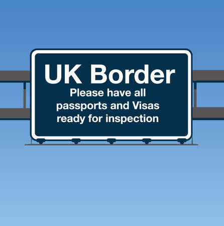 UK Border Road Sign