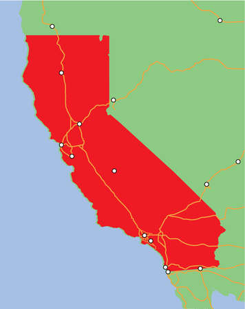 Vector State of California Illustration