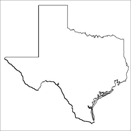 State of Texas Simple Vector Outline