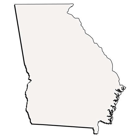 Vector Georgia State 3D Outline Map