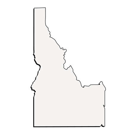 Vector Idaho State 3D Outline Map Ilustrace
