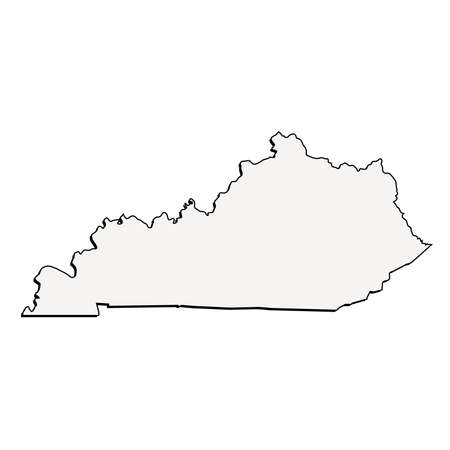 Vector Kentucky State 3D Outline Map