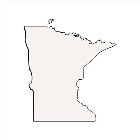 Vector Minnesota State 3D Outline Map