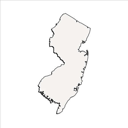 Vector New Jersey State 3D Outline Map