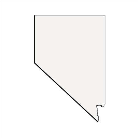 Vector Nevada State 3D Outline Map
