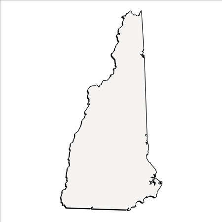 Vector New Hampshire State 3D Outline Map