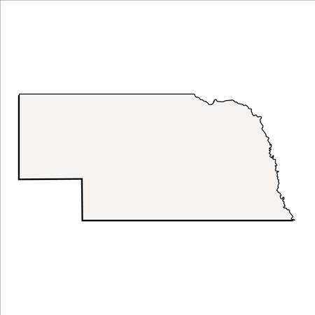 Vector Nebraska State 3D Outline Map