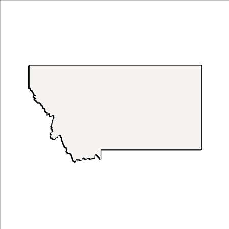 Vector Montana State 3D Outline Map